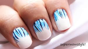 like a waterfall easy nail designs u0026 easy short nails tutorial
