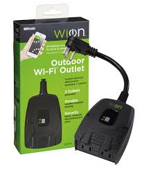 woods wion 50049 outdoor wifi outlet 2 wireless switch
