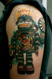 awesome robot full arm tattoo tattoomagz