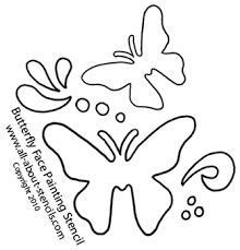 easy butterfly stencil designs