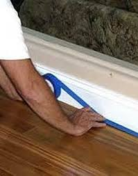caulk gaps bottom of baseboards without the mess