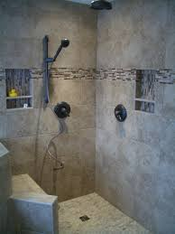 Sea Glass Bathroom Ideas Colors Dark Brown Ceramic Tiles For Modern Walk In Showers Ideas With