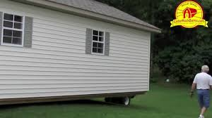 14 u0027 x 28 u0027 garage delivery portable storage building p 1 youtube