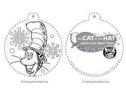 cat in the hat christmas ornament happy holidays pbs parents pbs