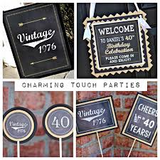 Mens 40th Birthday Decorations 40th Birthday Party Decorations 4 Piece Party Box Masculine And