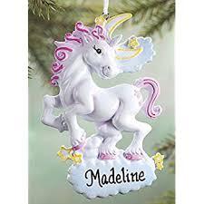 hallmark unicorn with rainbow mane ornament