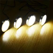 dimmable led puck lights aiboo triac dimmable led under cabinet aluminum puck lights 4 ls