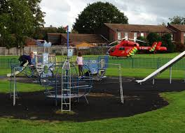 the worcester park blog air ambulance draws a crowd