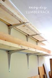 Free Wooden Shelf Bracket Plans by Cheap And Easy Diy Lumber Rack U2013 The Ugly Duckling House