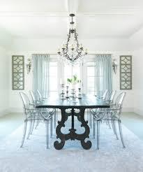 shabby chic farm table dining room beach style with gray floor