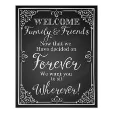 Wedding Seating Signs Let Love Sparkle Gifts On Zazzle