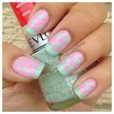 mint pink pastel nails the crafty ninja