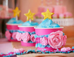 cotton candy party favor magical sleeping beauty party princess birthday hostess with