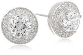 silver diamond earrings simulated diamond earrings photo aizt andino jewellery