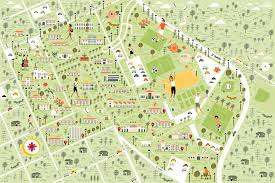 Boston College Campus Map by I Draw Maps