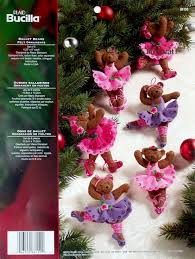 ballet bears bucilla felt ornament kit 86150 fth studio