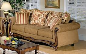 Acme Furniture Olysseus Sofa In Brown Floral Fabric By Acme Furniture