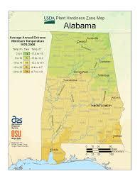 Map Alabama State Maps Of Usda Plant Hardiness Zones