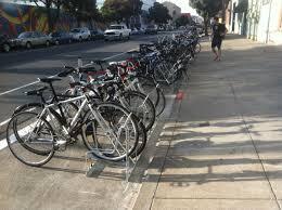 angled bike racks