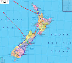 Air New Zealand Route Map by Postcard From New Zealand