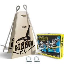 Backyard Slackline Without Trees Kit Ground Anchor Classic Line 25 M Gibbon Slacklines