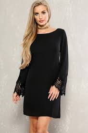 sleeve black dress black embroidered lace sleeve casual dress