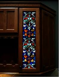 Kitchen Cabinet Door Glass Inserts Stained Glass For Cabinet Doors