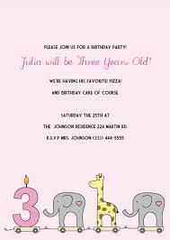 printable 3rd birthday invitations diy party invitation kits