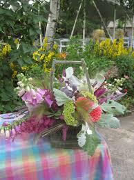 backyard picnic flowers