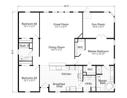 Master Bedroom With Bathroom Floor Plans by Wellington 40483a Manufactured Home Floor Plan Or Modular Floor Plans