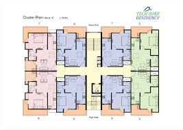 floor plan tech zone residency 1 2 bhk flats in yamuna expressway