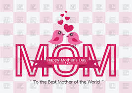 singing birds and word mom mother u0027s day card vector image 87943