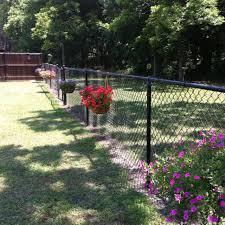 Backyard Fences Ideas by Best 25 Chain Link Fence Ideas On Pinterest Chain Link Fencing