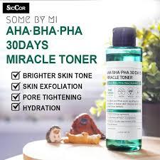 Toner Mizu some by mi ready stock miracle toner aha bha pha 30days 150ml anti