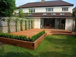 Elevated Home Designs Elevated Garden Angled 145mm Balau Smooth Hardwood Decking With