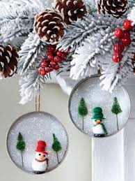 learn how to make a pretty jar lid ornament using glue