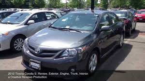 types of toyota corollas 2012 toyota corolla s review