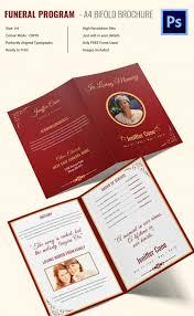 Funeral Pamphlet Ideas 35 Funeral Program Brochure Templates U2013 Free Word Psd Pdf