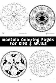 mandala coloring pages kids u0026 adults woo jr kids activities