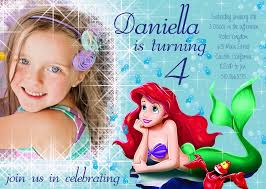 appealing personalized little mermaid party invitations birthday