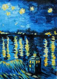 order oil painting starry night and the tardis van gogh free