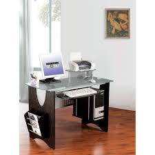 Espresso Office Desk Techni Mobili Rta 3325 Es18 Glass Top Home Office Desk In Espresso