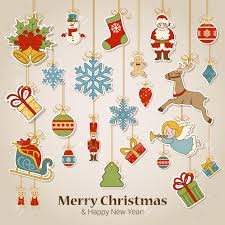 Decoration Happy New Year Merry Christmas And Happy New Year Sticker Label Decorations