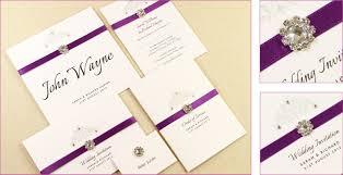 Wedding Invitations Purple Image Of Kraft Handmade Wedding Invitations Handmade Wedding