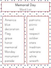 fourth of july vocabulary word lists fourth of july crafts for