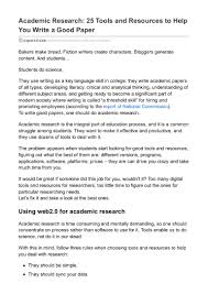 how to write a great paper academic research 25 tools and resources to help you write a good pa