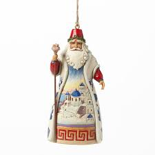 jim shore santa ornament department 56 corner