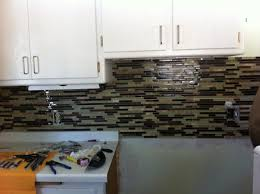 decor exciting kitchen decor ideas with peel and stick mosaic