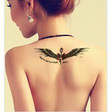 black angel wing women waterproof tattoo designs men sleeve