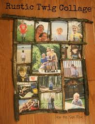 how the sun rose rustic twig frame collage aka the perfect gift